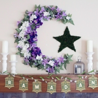 Decorating the Ramadan Fireplace Mantle