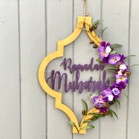 How To: Modern Floral Ramadan Door Wreath
