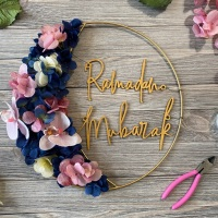 How To: Ramadan Floral Moon Wreath