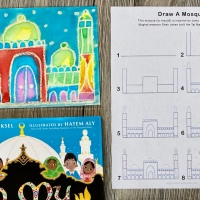 How To: Watercolor Resist Mosque Painting